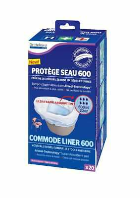 Dr Helewa Care Commode Liner (Pack of 20) Super Absorbent 600ml