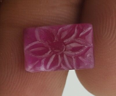 Natural Hand Carved Ruby Flower 8*12.50 Mm 3.40 Ct