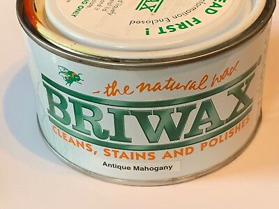 Briwax Wax Polish Antique Mahogany 16oz Can