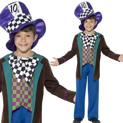 Boys Mad Hatter Deluxe Fancy Dress Costume Book Week Character