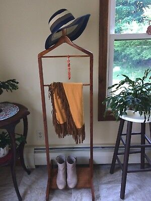 Vtg Wood Valet Clothes Butler Apartment Size Accessory Rack-Pick Up Only Nw Ct