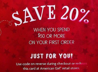 ➡️ FAST CODE! AMERICAN GIRL 20% OFF First Order of $50 or more Exp. 1/21/19