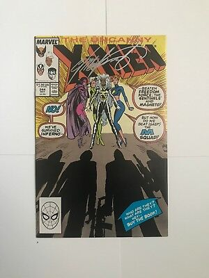 UNCANNY X-MEN #244 8.5 1ST APPEARANCE OF JUBILEE 1989 Signed By Chris Claremont