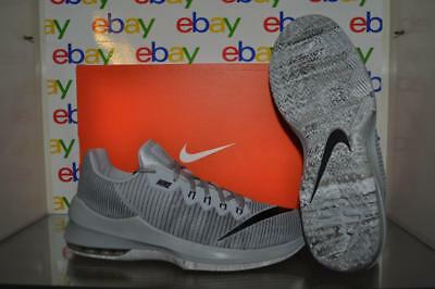 bb406c7ab63a0 Nike Air Max Infuriate 2 Low 908975 002 Mens Basketball Shoes Gray Black NIB