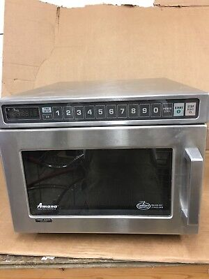 Amana HDC12 Heavy Duty 1200W Stainless Commercial Microwave - 120v EASY FIX