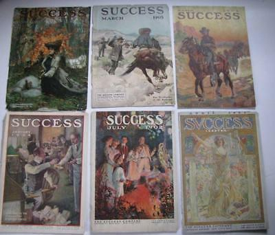 12 ORIGINAL SUCCESS MAGAZINE COVERS GREAT COVERS 4th OF JULY EASTER COWBOYS ART