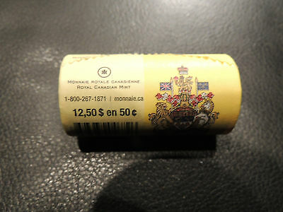 2013 Canada Coins .50 Fifty Cents Roll As Issued At Mint Rcm Special Wrap