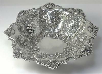 "Victorian hallmarked Sterling Silver 6 ½""  Bonbon/Sweetmeat Dish – 1898 (104g)"