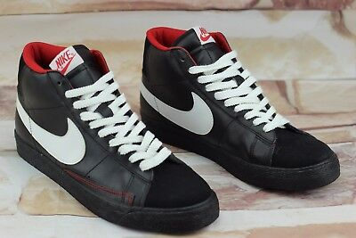 e76d5b44915d1 Nike Blazer High Men's Size 11 Black Sneakers White Swoosh Red Sole  315877-012