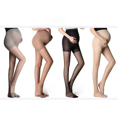 Women Pregnant Stockings Thin Pantyhose Dress Solid Oversize Bottom Socks P