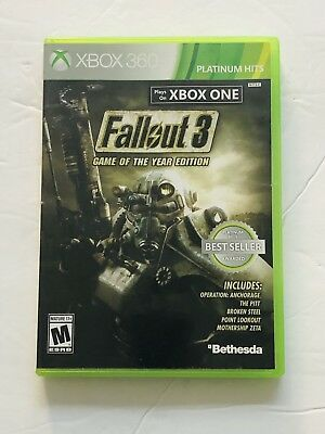 FALLOUT 3 Game of the Year Edition XBox One - XBox 360 Video Game (2 disks)