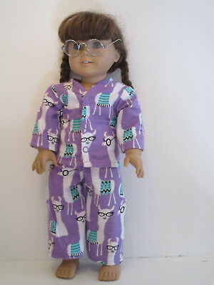 "Llamas with Glasses Pajamas 18"" Doll Clothes American Girl"