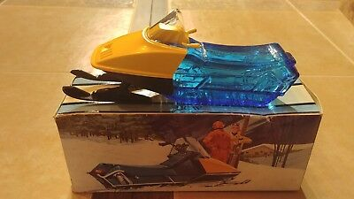 Vintage Avon Snowmobile After Shave Windjammer Cologne Skidoo EMPTY COMPLETE