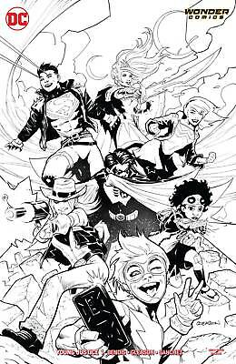 Young Justice #1 B&w Variant - Dc Universe - Release Date 09/01/19