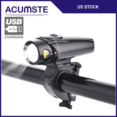 USB LED Rechargeable Bycicle Light Front Headlamp Headlight Bike Torch 4 Mode