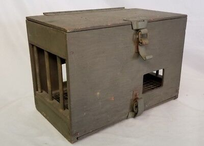 RARE Original WWII Carrier Pigeon Crate