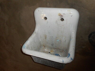 Old cast iron Highback farm house kitchen sink PICKUP ONLY