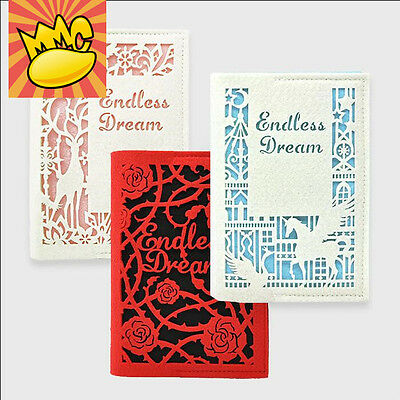 """Endless Dream"" 1pc Journal Diary Woolen Fabric Cover Blank Papers Notebook Gift"