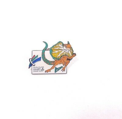Sydney 2000 Paralympic Games Lizzie The Lizard Mascot Pin Badge #813892