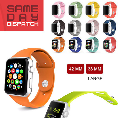 Series 3 2 1 For Silicone Replacement Strap Watch Band iWatch 42mm/38mm CA STOCK