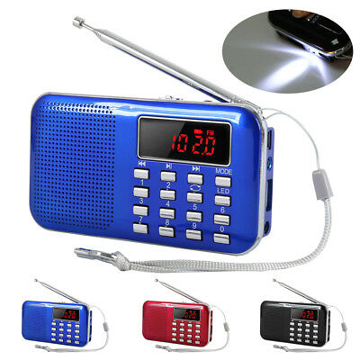 Digital FM AM Radio 2 Band Charge Receiver Speaker MP3 Player LED Portable AU