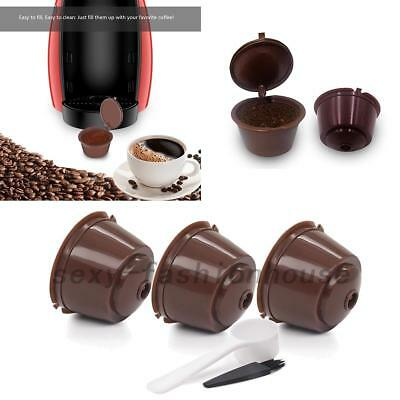 3x Refillable/Reusable Coffee Capsule Pods Cups for Nescafe Dolce Gusto Machine