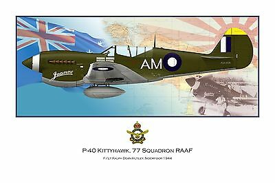 WWII WW2 RAAF P-40 Kittyhawk Aviation Art Profile Photo Print - Series 2 #1 of 3