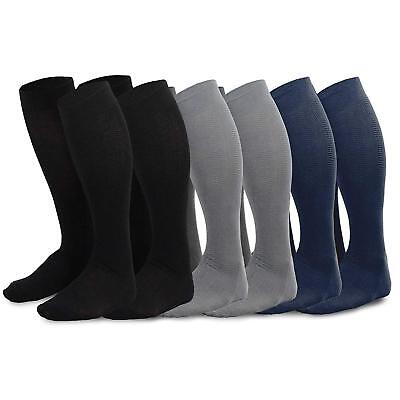 TeeHee Men's Bamboo Dress Over the Calf Socks Assorted Color 6-pack