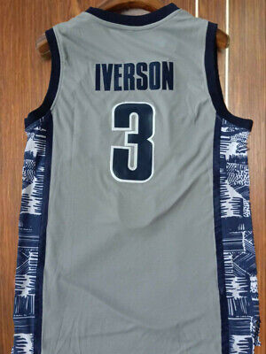 ed0cc7005ff New Allen Iverson #3 Georgetown Hoyas College Basketball Jersey All Stitched