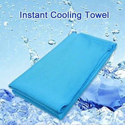 (with bottle) - Instant Cooling Towel Edealing Ice Cold Golf Cycling Jogging