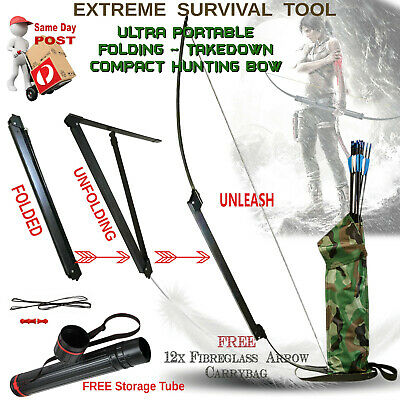 Takedown Folding Hunting Bow - The New Tactical Survival Tool Of Choice Camping