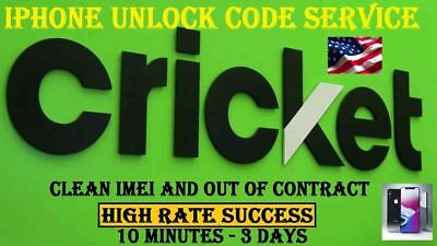 CRICKET  IPHONE UNLOCK SERVICE 5 5S 5c 6 7 8 X ALL SUPPORTED CLEAN IMEI