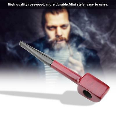 3mm Mini Rosewood Tobacco Pipe Portable Smoking Cigarette Wooden Filter Pipes