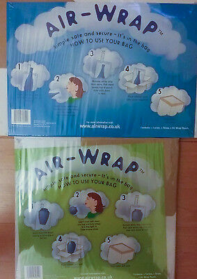 Tyco Air-Wrap Inflatable Protect Packaging Bag Includes Box For Vase/Bottle Etc