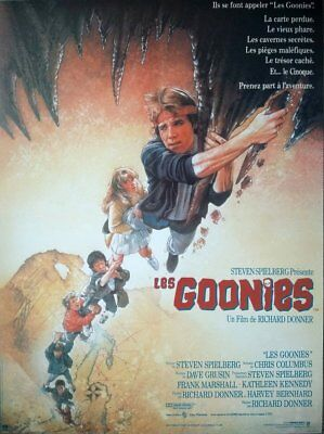 LES GOONIES Affiche Cinéma Originale ROULEE 53x40 Movie Poster Richard Donner