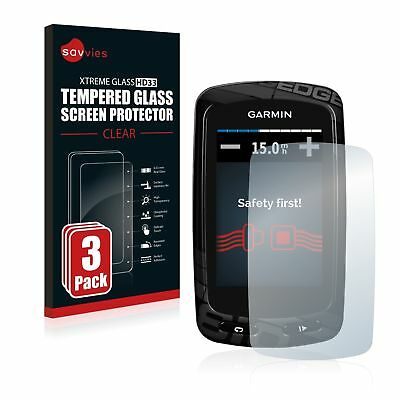 Garmin Edge 810 , 3 x Savvies® Xtreme Glass HD33 Tempered Glass Screen Protector