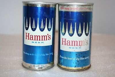 Hamm's Beer 11 oz & 12 oz SS zip tab beer cans from Minnesota & California