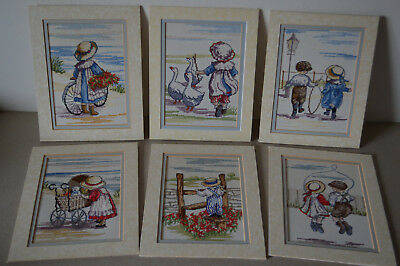 Vintage Tapestry pictures Victorian Children at Play