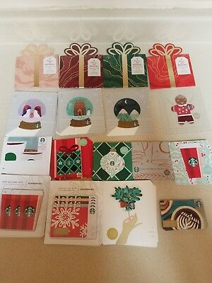 66 NEW STARBUCKS 2018 CHRISTMAS HOLIDAY GIFT CARD SET new ones included