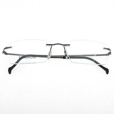 74564d1ae6da New Rimless Eyeglasses Frames Men's Pure Titanium Myopia Optical RX Lens  Able