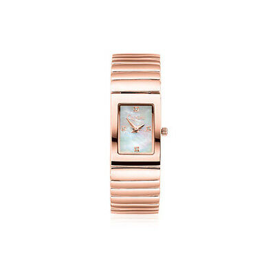 BRAND NEW Official Clogau Rose Gold Rose Plated Ladies Diamond Watch £260 off!