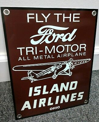 Ford Tri-motor airplane aviation Island Airlines Sign