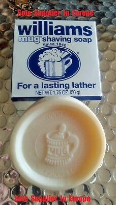 Williams Mug Shaving Soap - 50g Puck - Quality Product Made In USA Since 1840