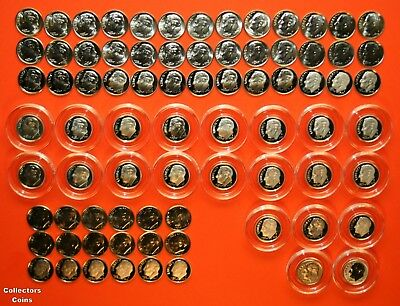 2000 - 2018 PDSS +S Roosevelt Dime 78 Coin BU Set wALL Clad & Silver Proof + Enh