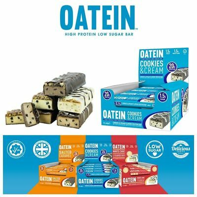 Oatein Protein Bars Low Carb Low Sugar Bar 12 x 60g Mix Flavours Available