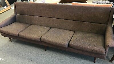 Thayer Coggin Mid-Century Sofa, Original Purple Tweed