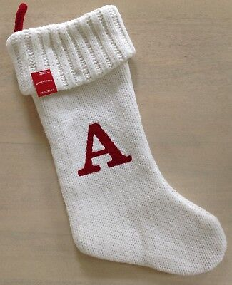 white knit monogram 19 christmas stocking initial letter a target wondershop