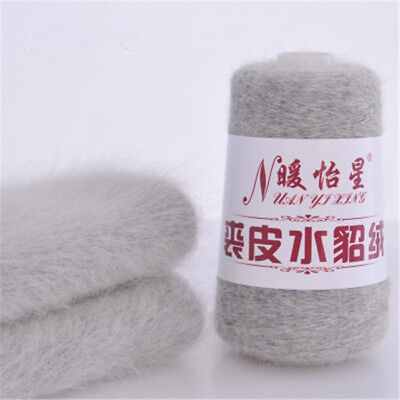 100g Cashmere Wool in the Real Mink Cashmere Yarn Hand-woven Mink Velvet