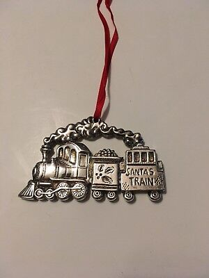 GORHAM Silver Plate SANTA'S TRAIN Steam Locomotive Christmas Tree Ornament