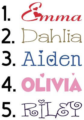 Personalized  Iron On Name Or Text * Lots of choices* *FREE SHIPPING*